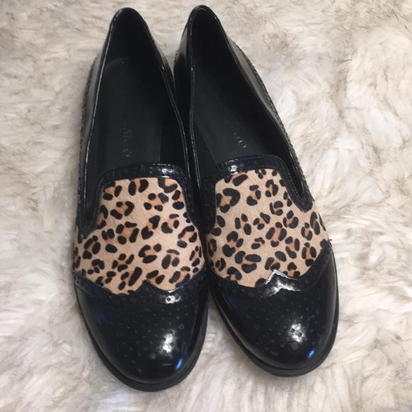 f64cc90999ef Franco Sarto Shoes - Franco Sarto Cheetah Print Calf Hair Oxfords